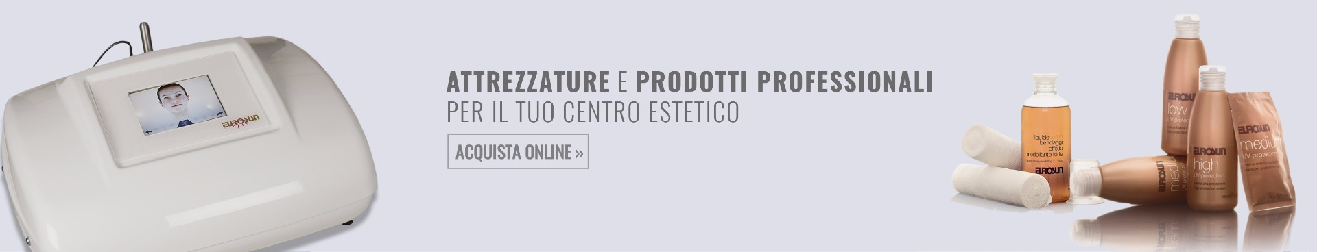 Attrezzature e prodotti professionali per centri estetici